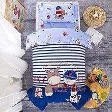 Bed Sheet 3Pcs/set Cotton Crib Bed Linen Kit
