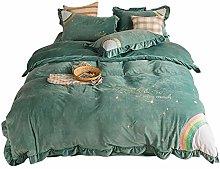Bed sheet set queen,2020 autumn and winter warm