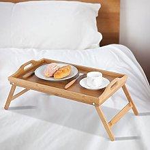 Bed Tray,Folding Bed Tray Bamboo Breakfast Table