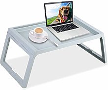 Bed Tray Table, Foldable Lap Bed Breakfast Tray