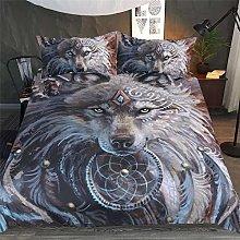 Bedding Duvet Cover Set 3D Wolf Theme Series1 pcs