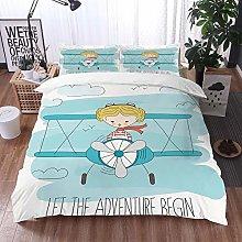 bedding - Duvet Cover Set,Adventure,Cute Girl