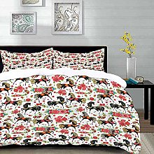 bedding - Duvet Cover Set, Horses,Abstract Floral