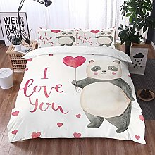 bedding - Duvet Cover Set,I Love You,Cute Panda