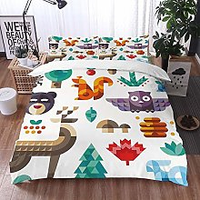 bedding - Duvet Cover Set,Kids,Cute Cheerful Poly