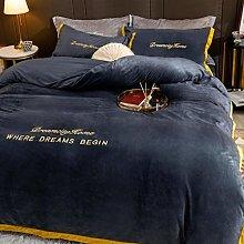 Bedding-LZ double teddy bear blanke-Milk velvet