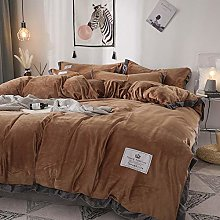 Bedding-LZ girls single duvet cover set-Thickened