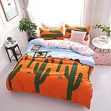 Bedding Set 3 Piece Tropical Green Plant Cactus