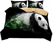 Bedding set 3D Animal Giant panda Lion Elephant