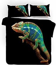 Bedding Set Animal Green Lizard 135x200 Cm