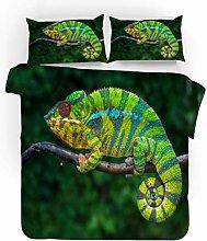 Bedding Set Animal Green Lizard 230x220 Cm