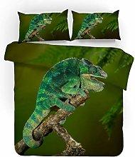 Bedding Set Animal Green Lizard 260x220 Cm