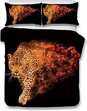 Bedding Set Animal Leopard Pattern Black