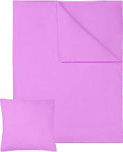 Bedding set cotton sheets 200x135cm 2 PCs - purple