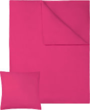 Bedding set cotton sheets 200x135cm 2 PCs - red