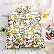 Bedding Set Dinosaur Print Kids Duvet Cover Set