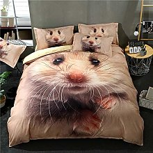 Bedding Set Duvet Quilt Cover & Pillowcase 3D