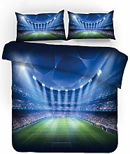 Bedding Sets 3D Football Field Flame Soccer Sports