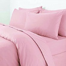 BeddingCareUk Double Pink Polycotton 50/50% Duvet