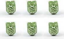 Bedford Novelty Owl Knob Dihl Colour: Green