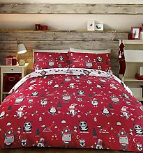 Bedlam Two, 52% Polyester / 48% Cotton, Red,