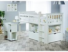 Bedmaster Milo White Sleep Station Desk Storage