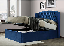 Bedmaster - Warwick Velvet Ottoman Blue Small
