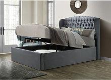 Bedmaster - Warwick Velvet Ottoman Grey King Size