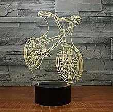 Bedroom Bike Ride 3D Light 7 Color Led Night Light