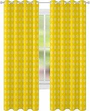 Bedroom Blackout Curtains, Hippie Flower Childrens