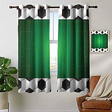 Bedroom Curtain Soccer,Football Field with