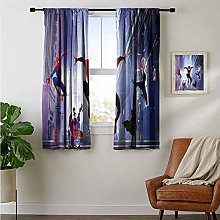 Bedroom Curtains 2 Panel Sets Spiderman Into The
