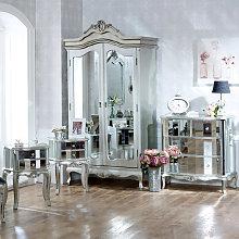 Bedroom Furniture Set, Mirrored Double Wardrobe,