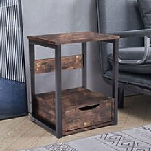 Bedroom Nightstand Bedside Lamp Table With Storage