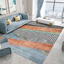 Bedroom Rug,Modern Nordic Fashion Geometric Gold