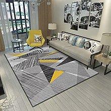 Bedroom Rug,Modern Nordic Simple Geometric Gray