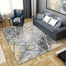 Bedroom Rug,Modern Simple Abstract Geometric Gray