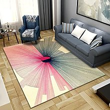 Bedroom Rug,Modern Simple Abstract Pink And Black