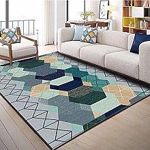 Bedroom Rug,Modern Simple Geometry Line
