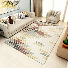 Bedroom Rug Modern Stripes Insulated Rug Gray Red