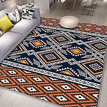 Bedroom Rug,Vinatge Aztec Ethnic Artistic Rhombus