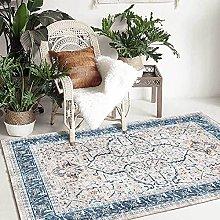 Bedroom Rug,Vinatgedistressed Turkish Style Blue