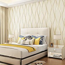 Bedroom Wall Decorations 3D Striped Wallpaper for