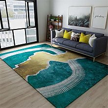 Bedrooms Rug Non Slip Green Brown Modern Abstract