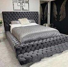 Beds & Co Steel Plush Velvet Upholstered Regal
