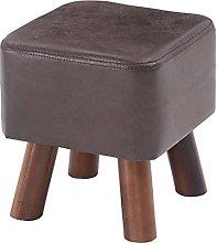 BEDSETS Stool, PU Leather Footstool Ottoman