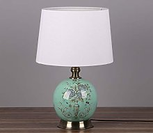 Bedside and Table Lamps-QFF Round Ceramic Table
