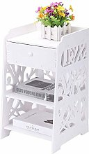 Bedside Bedside Cabinet with Drawers White Storage