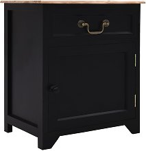 Bedside Cabinet Black and Brown 40x30x50 cm