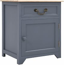 Bedside Cabinet Grey and Brown 40x30x50 cm